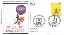 ENVELOPPE 1er JOUR FDC 2003 - N° 3545 - CHAMBRE COMMERCE et INDUSTRIE PARIS
