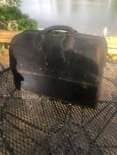 Emdee By Schell Antique Vintage Leather Doctor's Bag Steampunk-Authentic Rare