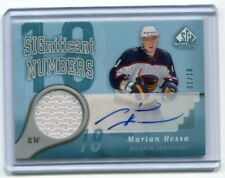 2005-06 SP Game Used Significant Numbers Jsy Auto  01/18  Marian Hossa  #SN-HO