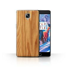 STUFF4 Phone Case/Back Cover for OnePlus 3 /Wood Grain Effect/Pattern