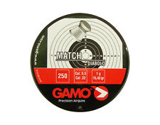 GAMO MATCH DIABOLO 5.5 mm cal. .22 250 pcs. PELLETS Air rifle Airgun pellets