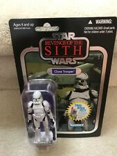 Star Wars Vintage Collection Clone Trooper VC15 2010 New on Card Foil Variant