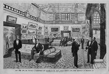 WILLIAM VANDERBILT ART GALLERY IN HIS FIFTH AVENUE MANSION 1884 NEW YORK CITY