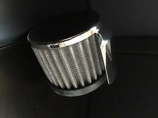 Chrome Push In Filter Breather With Shield Racing Oil Valve Cover Breather
