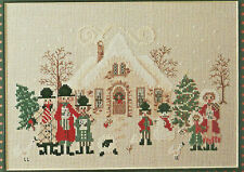 O Christmas Tree Folk Art Carolers Cross Stitch Pattern from a magazine Holidays