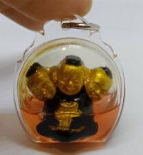 Guman Thong 3 Heads Ajarn Khunthep Thai Voodoo Doll Amulet Luck Business trade