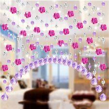 Crystal Glass Beaded Curtain Solid Color Bedroom Window Door Wedding Decoration