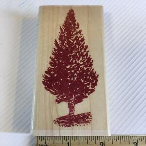 VINTAGE CHRISTMAS TREE WINTER PINE by Hampton Art Rubber Stamp