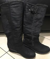 Corelli Black Wedge Boots Size 8
