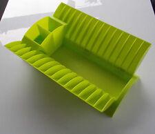 Washing Up Drainer / Draining Green Folding Dish Rack for Caravan Motorhome