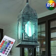 Vintage LED Living Room Ceilings Hanging Lamp Dimmable Lantern RGB