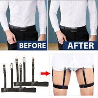Male Men Hidden Shirt Stays Holder Garters Belt Non Slip Elastic LockingPY