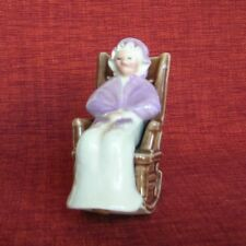 Vintage 40sGrandmother,Granny in Rocking Chair Salt and Pepper Shaker,Japan