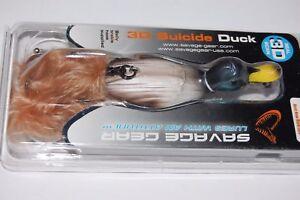 """savage gear bass topwater 3d suicide duck floating buzz mallard 4 1/4"""" 1oz"""