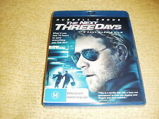 THE NEXT THREE DAYS thriller 2011 BLU RAY DVD NEW SEALED Russell Crowe REGION B
