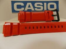 Casio Watch Band WS-220 -4AV Orange Resin Watchband / Strap Black Buckle