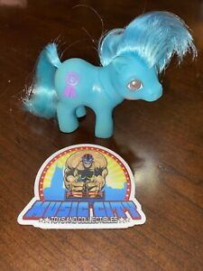1984 Hasbro G1 My Little Pony Blue Ribbon Mail Away Baby Concave Hooves MLP