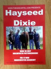HAYSEED DIXIE VERY RARE AND ORIGINAL TOUR POSTER, MANCHESTER.