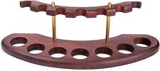 More details for dr. watson - wooden tobacco pipe stand - arch vii - for 7 tobacco smoking pipes
