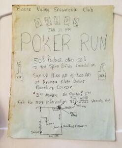 Vtg 1984 Poker Run Boone Valley Snowmobile Club Blairsburg Jewell Kamrar Iowa