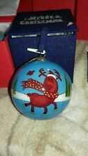Collect-a-ball Christmas Bauble Rudolph 70mm Hand Painted Gift Box