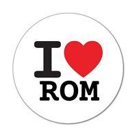 I love ROM - Aufkleber Sticker Decal - 6cm