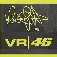 Premium Valentino Rossi 2pcs VR46+Rossi Signature MotoGP Reflective Sticker