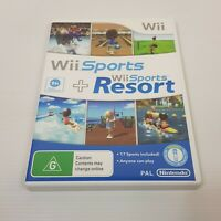 WII Sports + Resort (Nintendo Wii / U) PAL Double Pack Video Game - Complete
