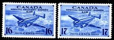 Canada 1942-43 Air Special Delivery 16c & 17c SG S13 & S14 Mounted Mint