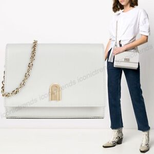 NWT🌸$498 Authentic Furla 1927 Mini Crossbody Bag Talco h (Off White)