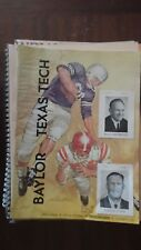 Baylor vs Texas Tech football program Oct. 21,1961 Furrs and piggly wiggly ads