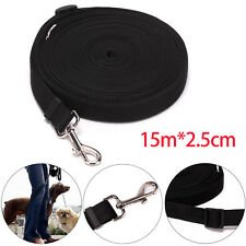 """Dog Pet Puppy Training Lead Leash 50ft 15m Long Obedience Recall 1"""" wide"""