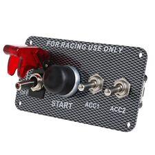 Racing Car Ignition Switch Engine Panel Start Starter Push Button LED Toggle 12V