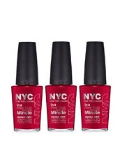LOT OF 3 - NEW YORK COLOR IN A NEW YORK COLOR MINUTE NAIL POLISH MADISON AVENUE
