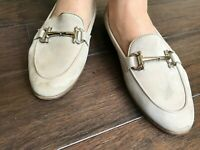 Women Beige Salvatore Ferragamo Moccasin Loafer US Sz 6