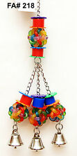 Balls and Bells Pet Bird Parrot Toy Cage Toys Amazon Conure Mini Macaw Small Coc