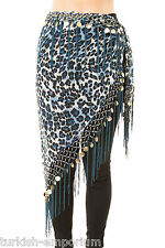 Tribal Fringe Fusion Belly Dance Hip Scarf V Shaped Apparel Dancing Costume Wear