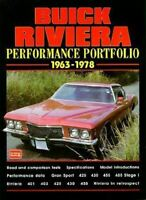 Buick Riviera Book Portfolio Performance Brooklands 455 401 425 430 1963-1978