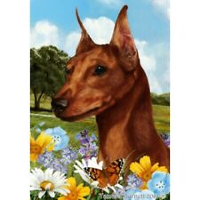 Summer Garden Flag - Red Miniature Pinscher 182231
