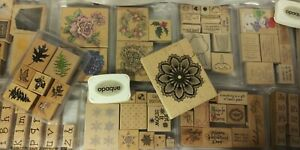 HUGE Lot Rubber Stamps All Occasions New & Used Holiday Alphabet Sayings LOOK