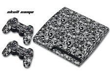 Skin Decal Wrap for PS3 Slim Black Warfare Playstation 3 Cod Console SKULL CAMO