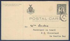 Philippines Postal Card UX9 Rizal Black