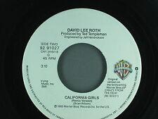 CALIFORNIA GIRLS DAVID LEE ROTH 45 RPM RECORD