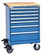 LISTA XSST0750-0701M-BT- ST750 7-Drawer Mobile Storage Cabinet with Butcher Bl