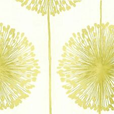 Muriva - J04204-  Dandelion Luxury Floral Wallpaper- Cream / Lime Green