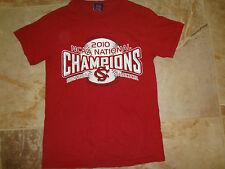 USC Gamecocks Baseball Shirt 2010 National Champs SC Red Short Sleeve Sz Small