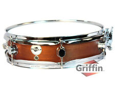 Griffin Piccolo Snare Drum 13x3.5 Dark Wood Shell Percussion Poplar