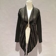 NIC AND ZOE CARDIGAN SWEATER GREY AND BLACK  SIZE PETITE P EUC