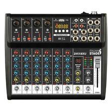 IS 2MIX8XU By Proel Mixer Audio Stereo + Registatore USB + Bluetooth + effetti