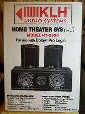"KLH Speaker System HT-9930 Great Find Super Opportunity NIB"" Awsome SALE!!"